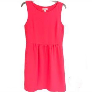 J. Crew Camille Sleeveless Dress Neon Pink 6
